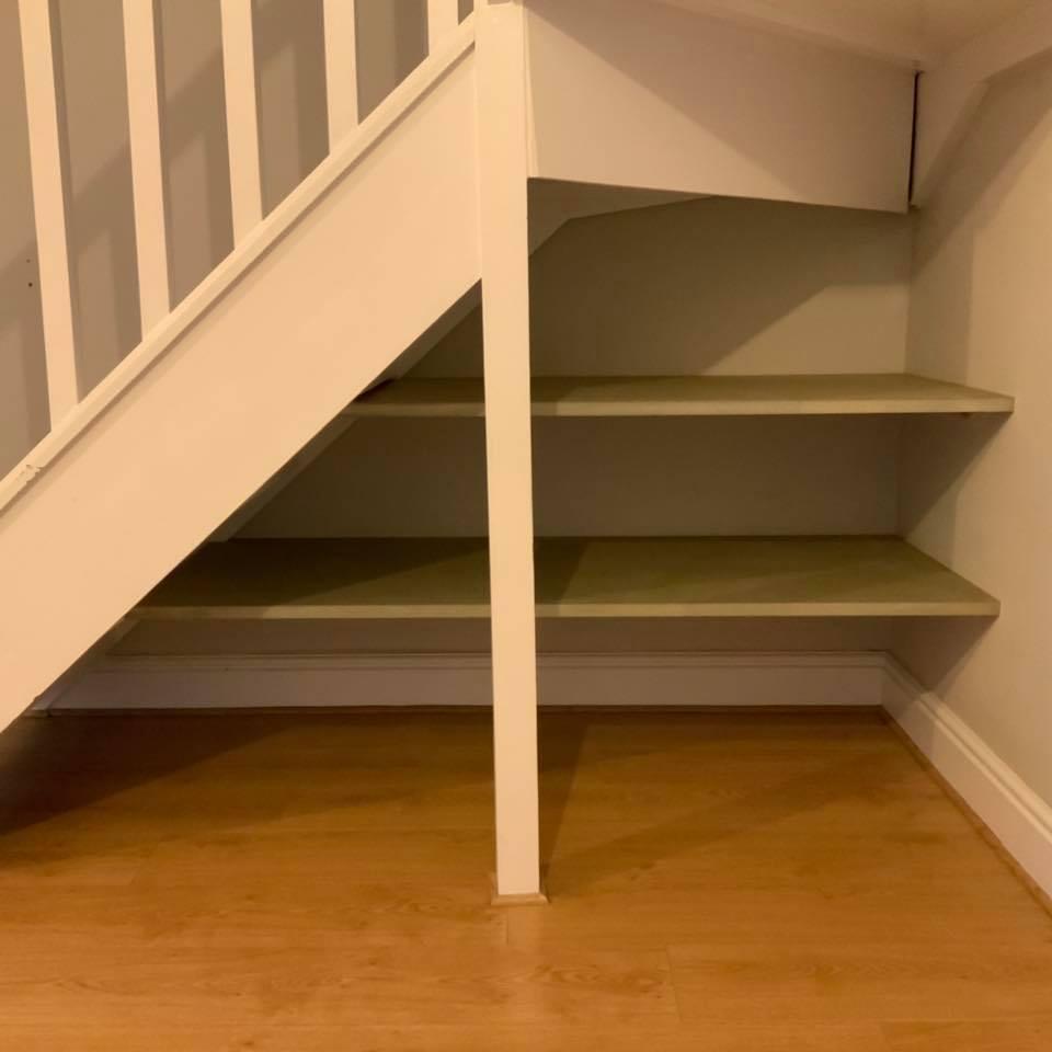 Bespoke Under Stairs Shelving: Bespoke Understairs Storage